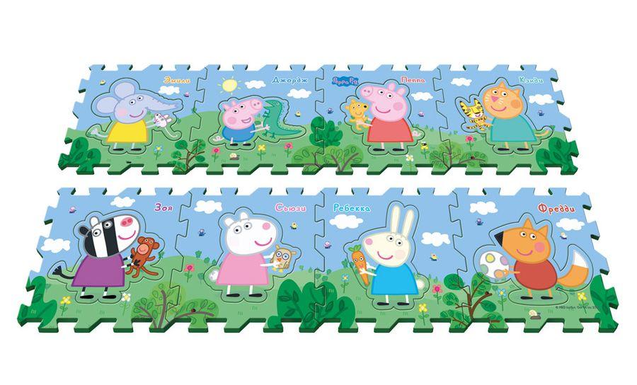 Коврик-пазл «Пеппа и друзья»Свинка Пеппа Peppa Pig<br>Коврик-пазл «Пеппа и друзья»<br>