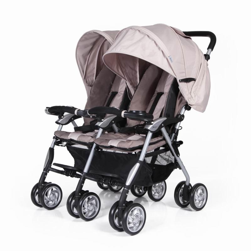 Коляска для двойни Elegant Twin, бежеваяДетские коляски для двойни и погодок<br>Коляска для двойни Elegant Twin, бежевая<br>
