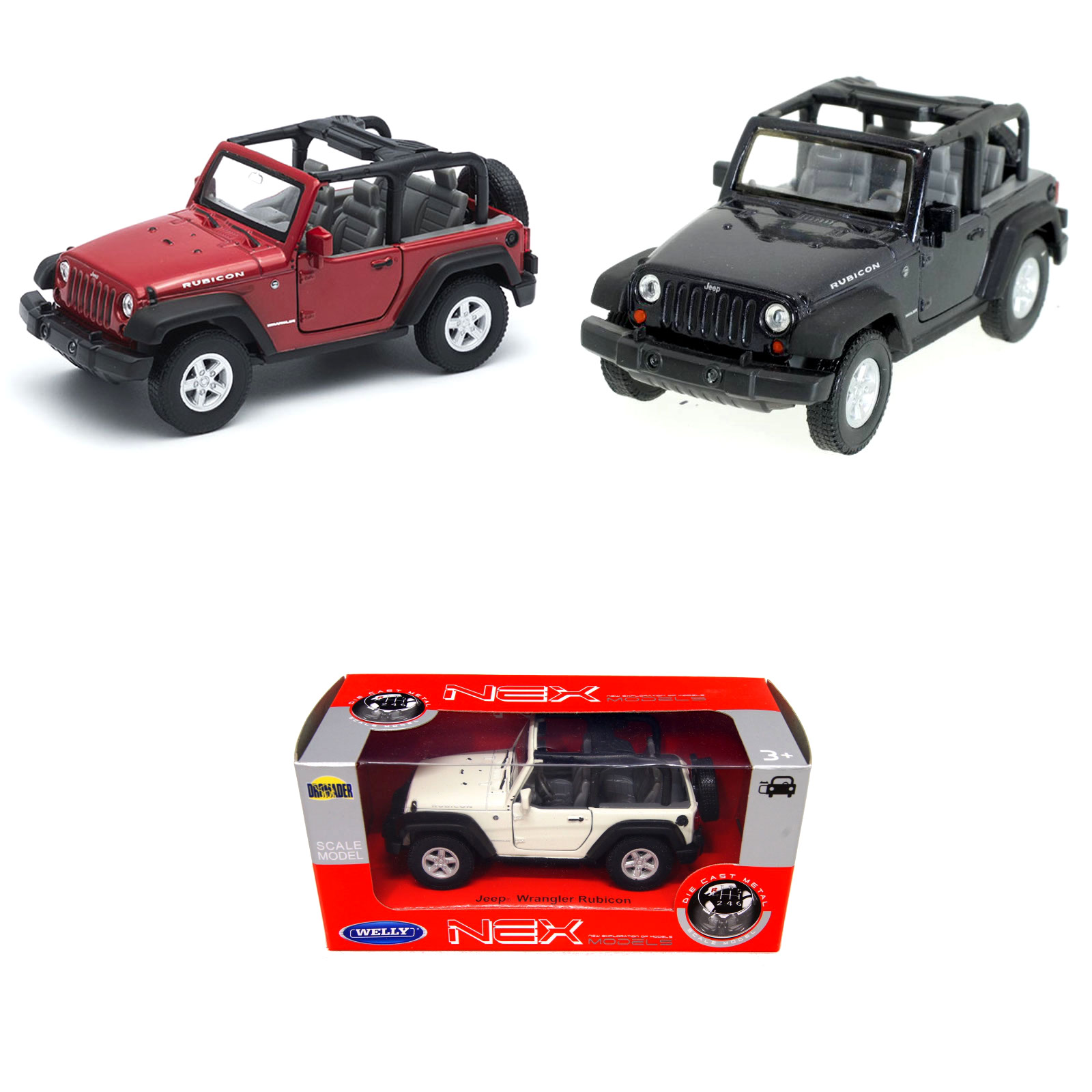 Модель машины Jeep Wrangler Rubicon, 1:34-39Jeep<br>Модель машины Jeep Wrangler Rubicon, 1:34-39<br>