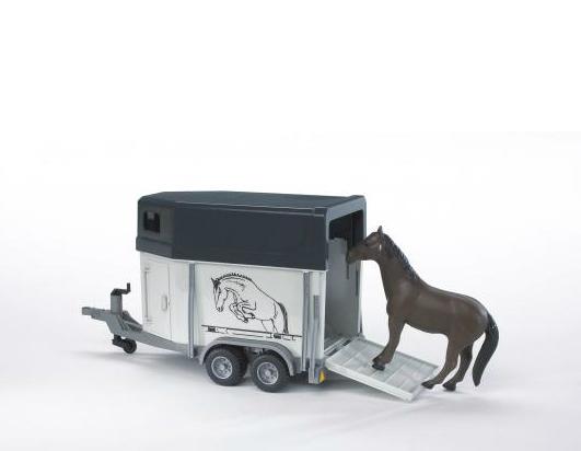 Прицеп-коневозка с лошадьюПрицепы, платформы<br>Прицеп-коневозка с лошадью<br>