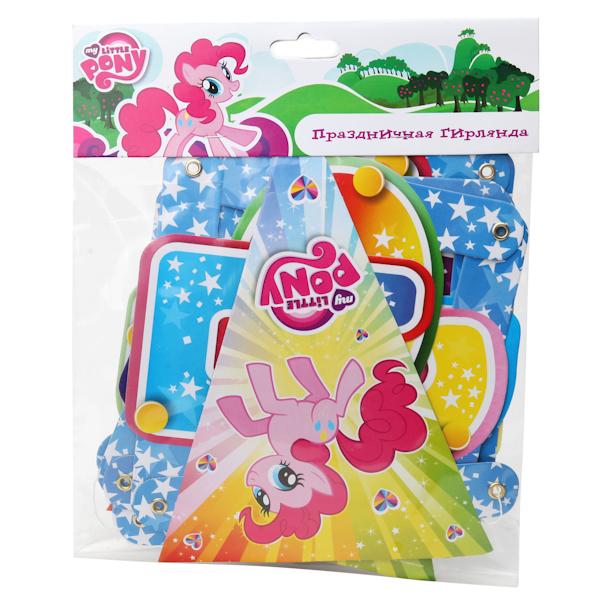 Праздничная гирлянда – Поздравляем, дизайн Моя маленькая пони, 1,9 метраMy Little Pony<br>Праздничная гирлянда – Поздравляем, дизайн Моя маленькая пони, 1,9 метра<br>