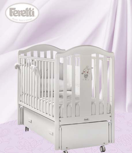 Кровать детская Ricordoswing BiancoДетские кровати и мягкая мебель<br>Кровать детская Ricordoswing Bianco<br>