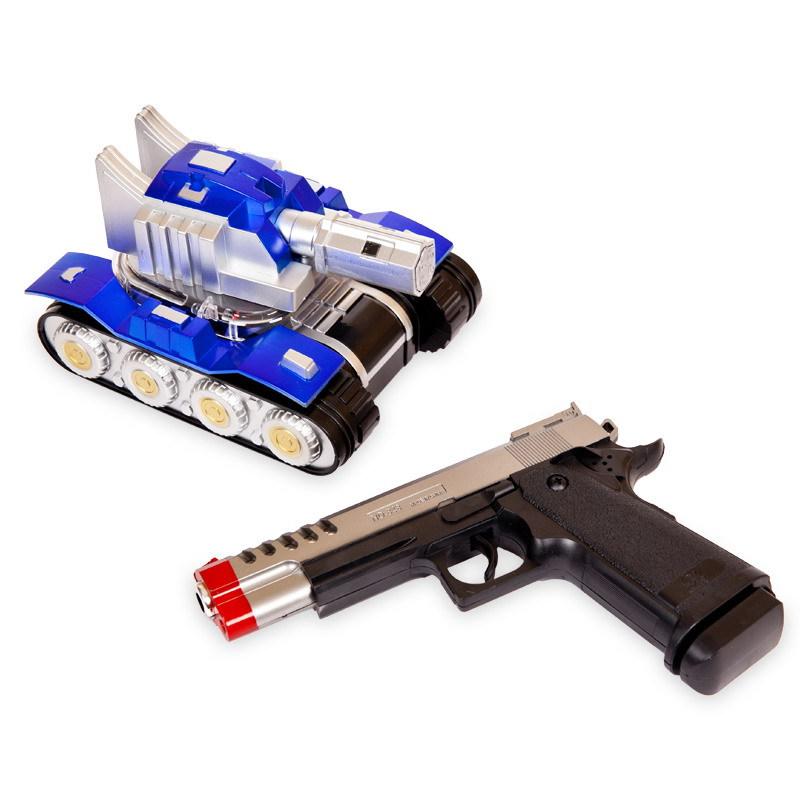картинка Электромеханический танк на ИК-управлении с пистолетом, свет и звук от магазина Bebikam.ru