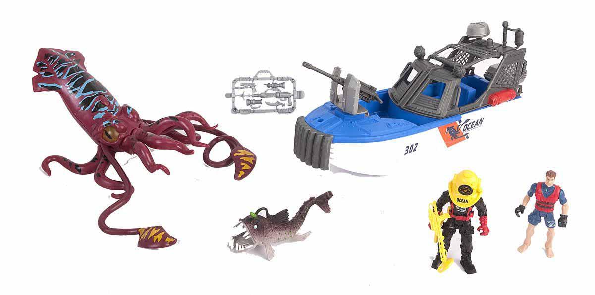 Набор - Опасное приключение акванавтов, 4 фигуры, светМорской мир (Sea life)<br>Набор - Опасное приключение акванавтов, 4 фигуры, свет<br>