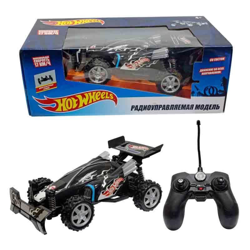 Машинка на р/у - Hot Wheels Багги, черная, свет фото