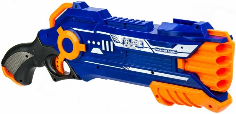 Купить Бластер механический, в наборе с 20 снарядами, JUNFA TOYS