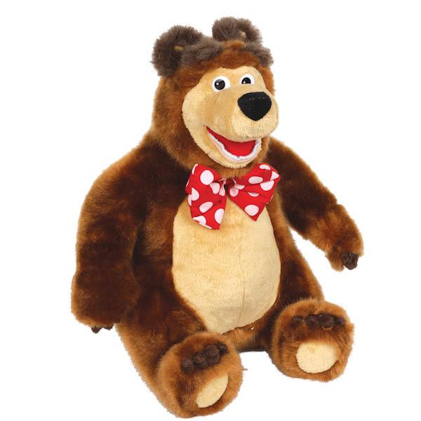 Мягкая игрушка Мишка из мультфильма «Маша и медведь», рассказывает 3 сказки - Маша и медведь игрушки, артикул: 131342
