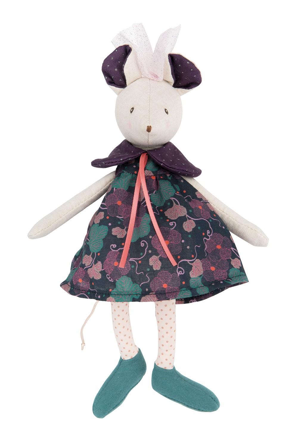 Мягкая игрушка – мышка Сиси, 24 см., Moulin Roty  - купить со скидкой