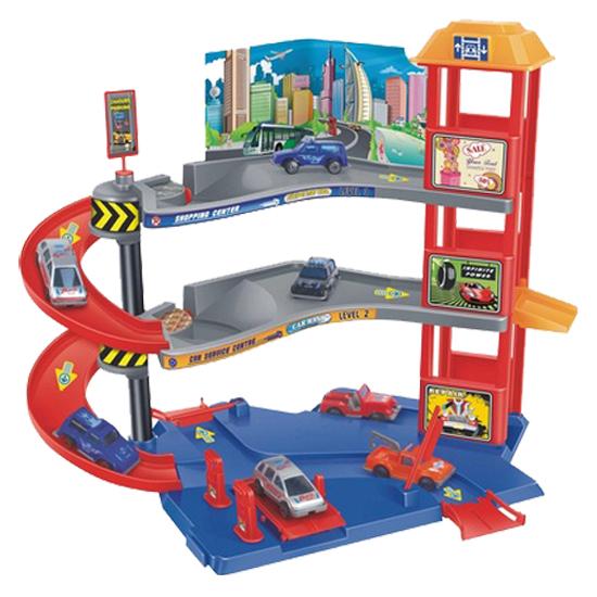 Гараж 3 уровня с машинками и аксессуарамиДетские парковки и гаражи<br>Гараж 3 уровня с машинками и аксессуарами<br>