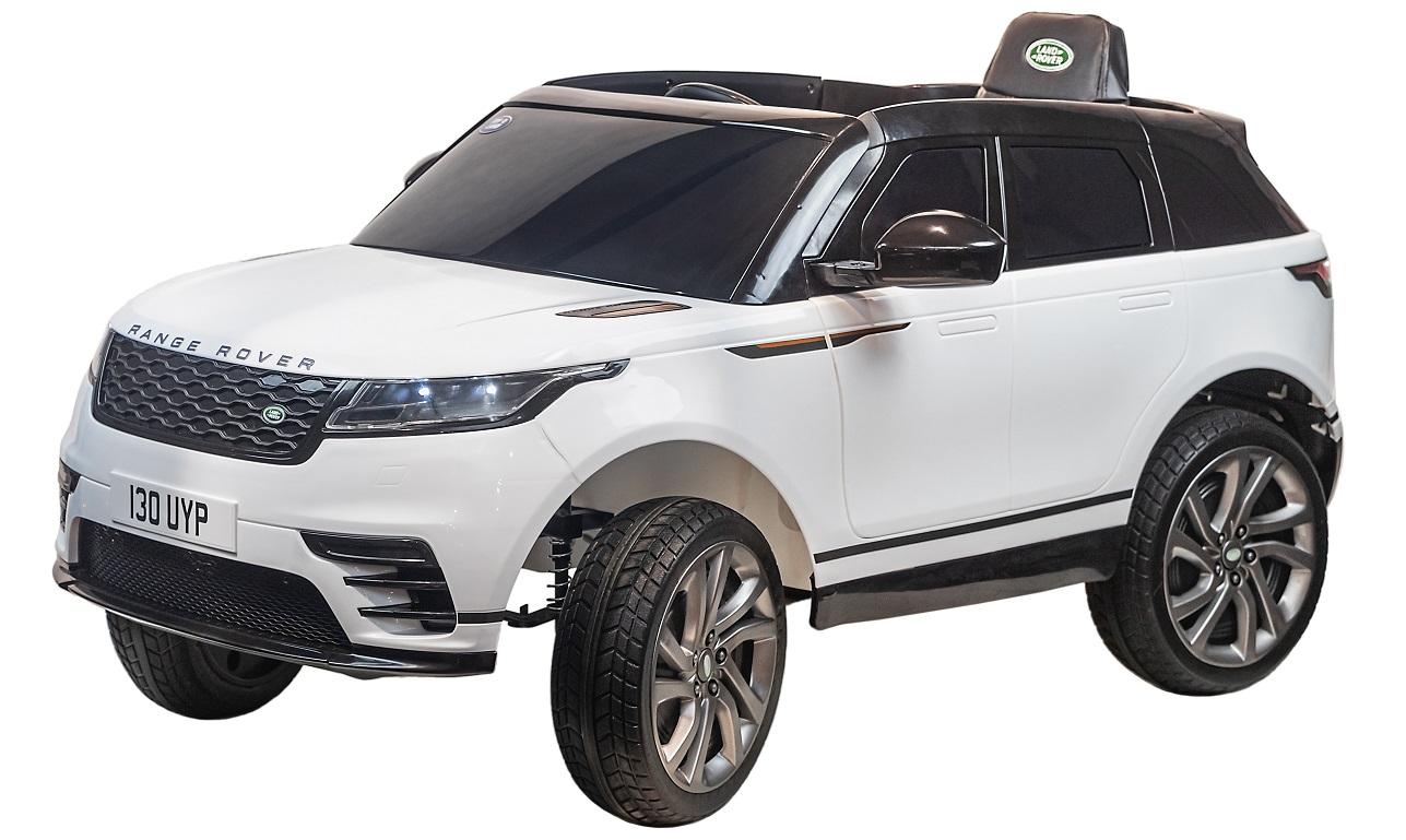 Электромобиль Джип Range Rover Velar, белый, свет и звук фото