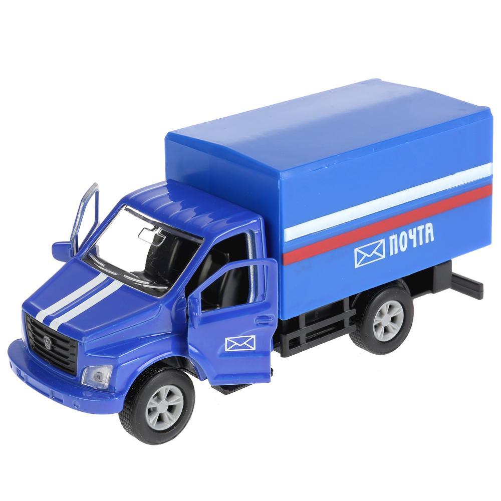 Купить Машина металлическая ГАЗ Газон Next Почта, 14, 5 см., открываются двери, инерционная, Технопарк