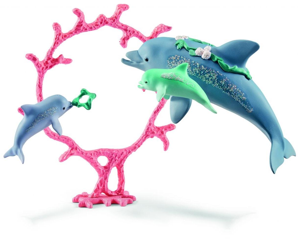 Набор фигурок - Мама дельфин с детенышами фото