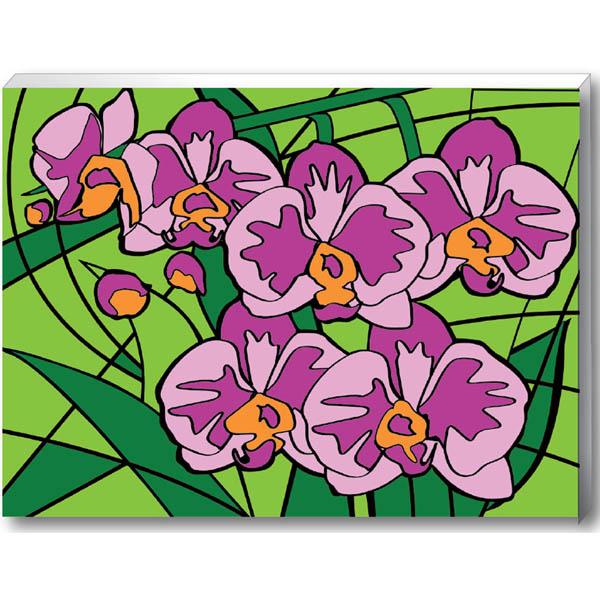Роспись по номерам «Орхидеи» 30 х 40 см.Роспись по холсту<br>Роспись по номерам «Орхидеи» 30 х 40 см.<br>