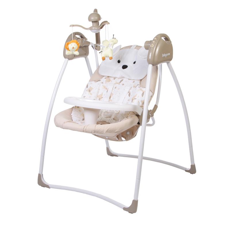Электрокачели Baby Care Butterfly с адаптером, Latte - Детские Кресла-качалки, шезлонги, артикул: 166332