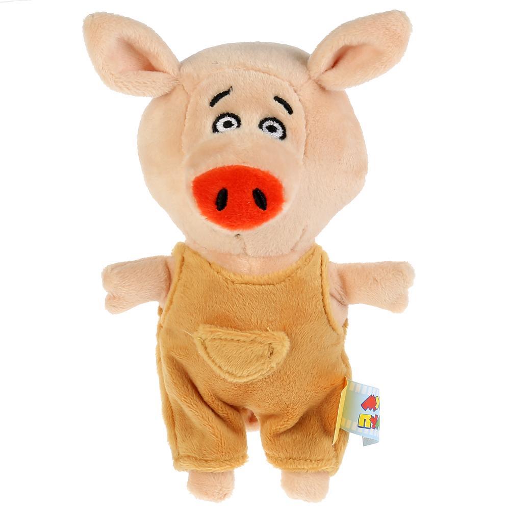 Мягкая игрушка Оранжевая корова - Поросенок Коля, 15 см