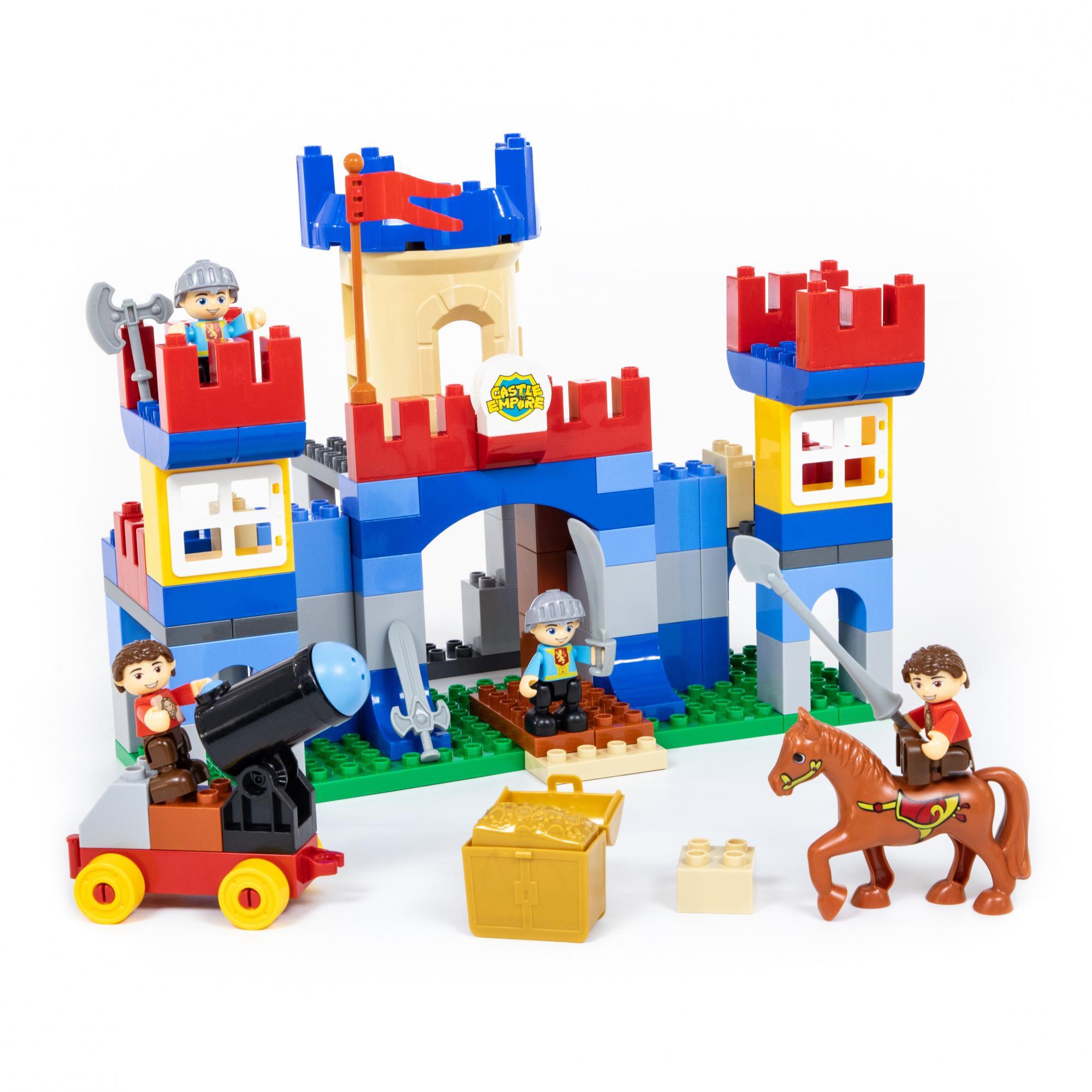 Купить Конструктор из серии Макси – Замок, 120 элементов, в коробке, Полесье