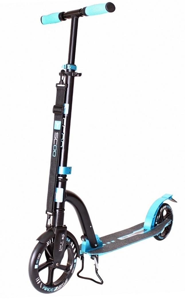 Купить Самокат Y-Scoo RT 230 Slicker Deluxe New Technology с амортизатором, голубой
