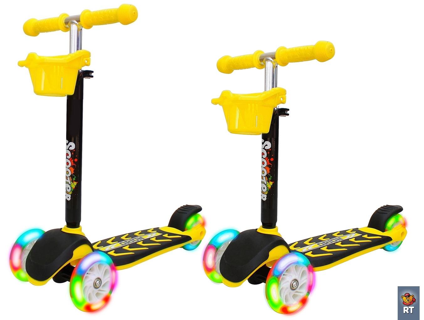 Купить Самокат Midi Orion со светящимися колесами, лимонный, RT