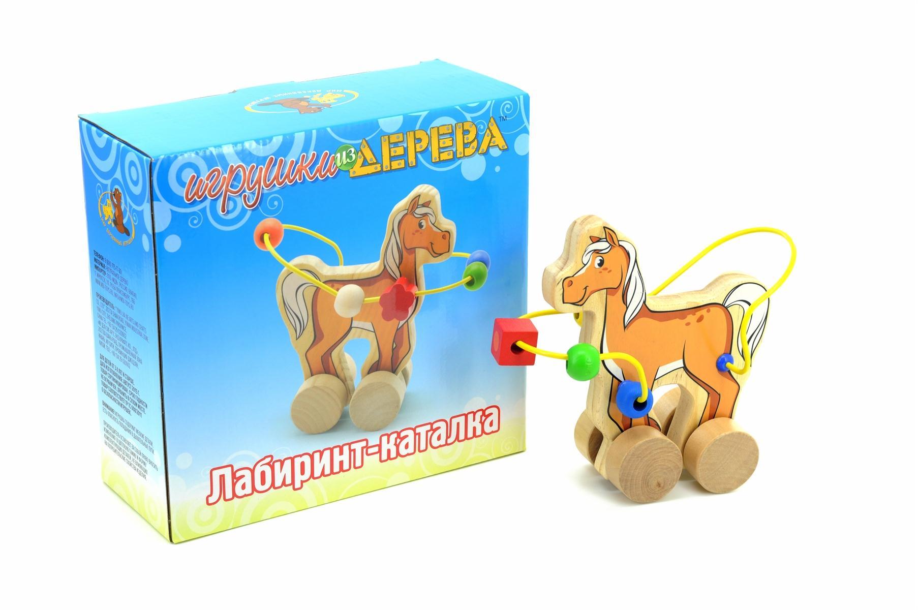 Мир деревянных игрушек Лабиринт-каталка - Лошадь