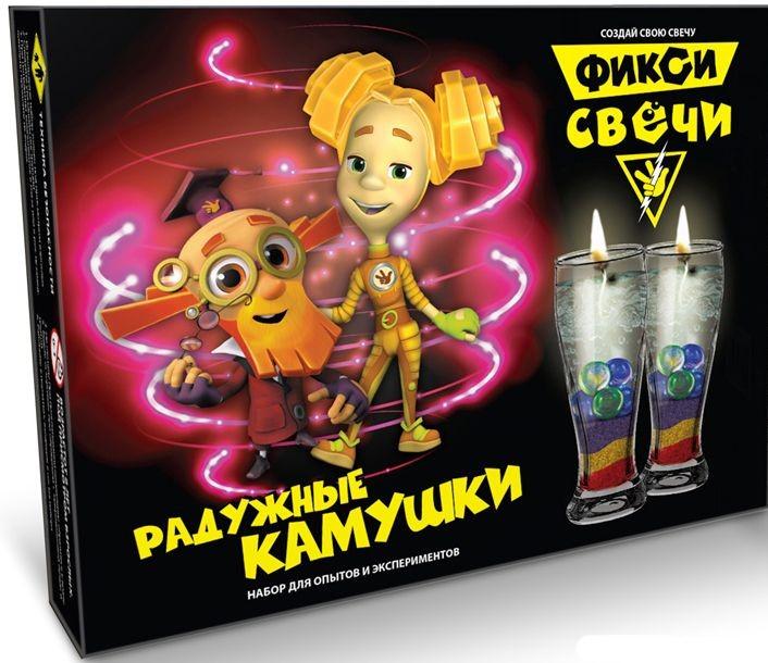 Набор для создания гелевых свечей – Радужные камушки. Фиксики-свечи, Висма  - купить со скидкой