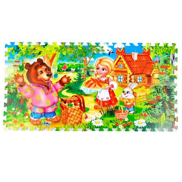 Купить Коврик-пазл - Машенька и Медведь, 8 сегментов, Играем вместе