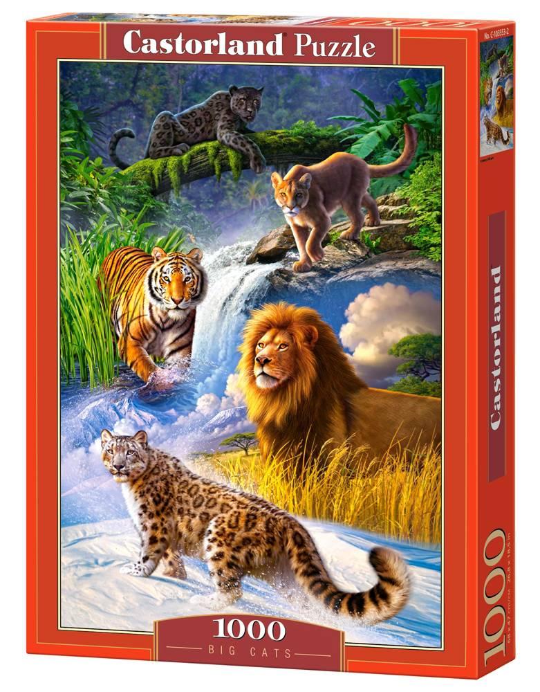 Пазл Castorland 1000 деталей Дикие кошкиПазлы 1000 элементов<br>Пазл Castorland 1000 деталей Дикие кошки<br>