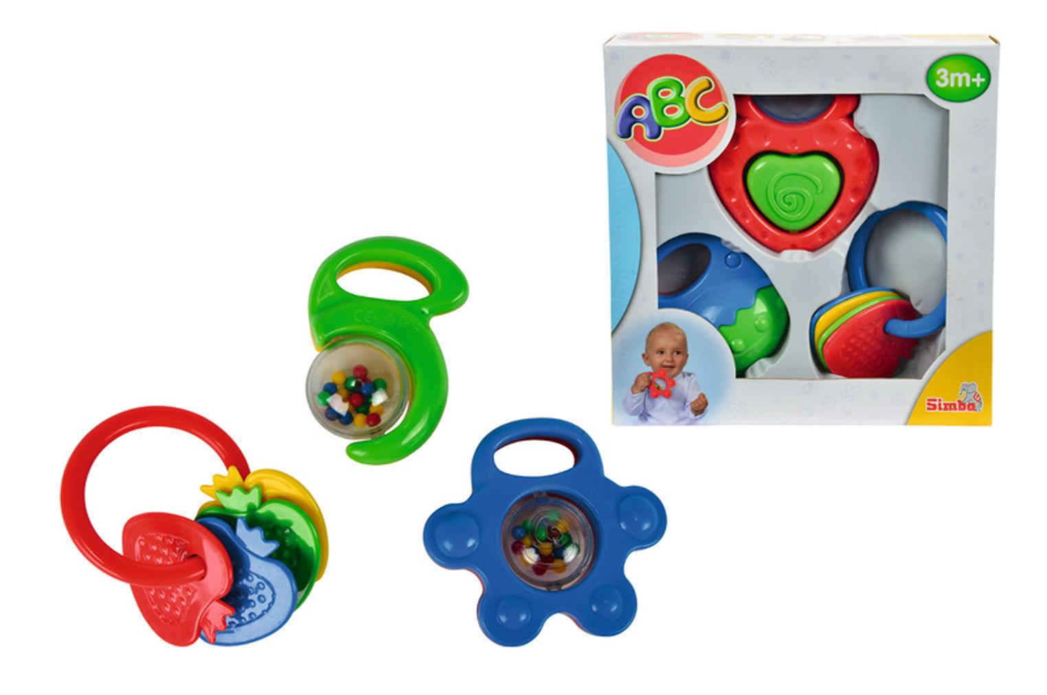 Набор погремушек, 3 шт.Детские погремушки и подвесные игрушки на кроватку<br>Набор погремушек, 3 шт.<br>