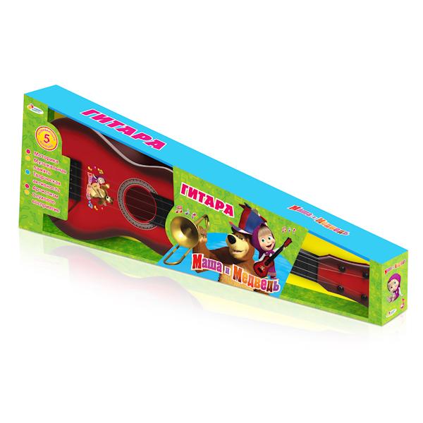 Детская гитара «Маша и медведь» классическая, с 5 развивающими функциямиГитары<br>Детская гитара «Маша и медведь» классическая, с 5 развивающими функциями<br>