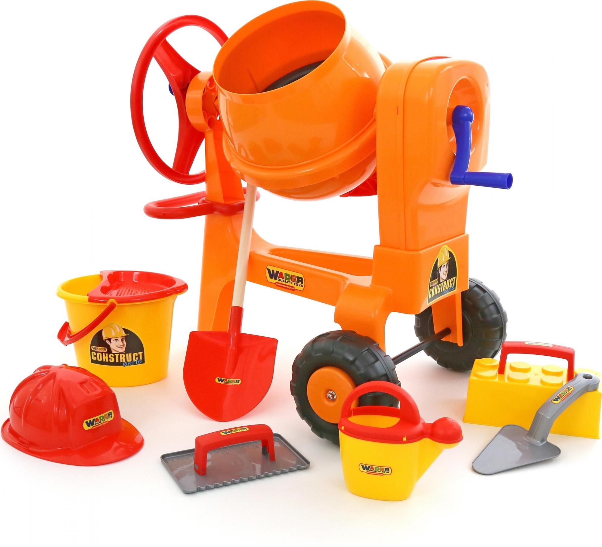 Бетономешалка Construct + Набор каменщикаДетские мастерские, инструменты<br>Бетономешалка Construct + Набор каменщика<br>