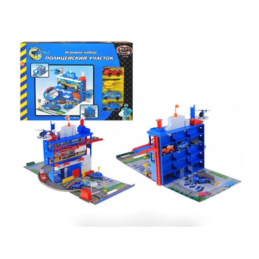 Купить Игровой набор - Полицейский участок, гараж с машинками и аксессуарами, Joy Toy
