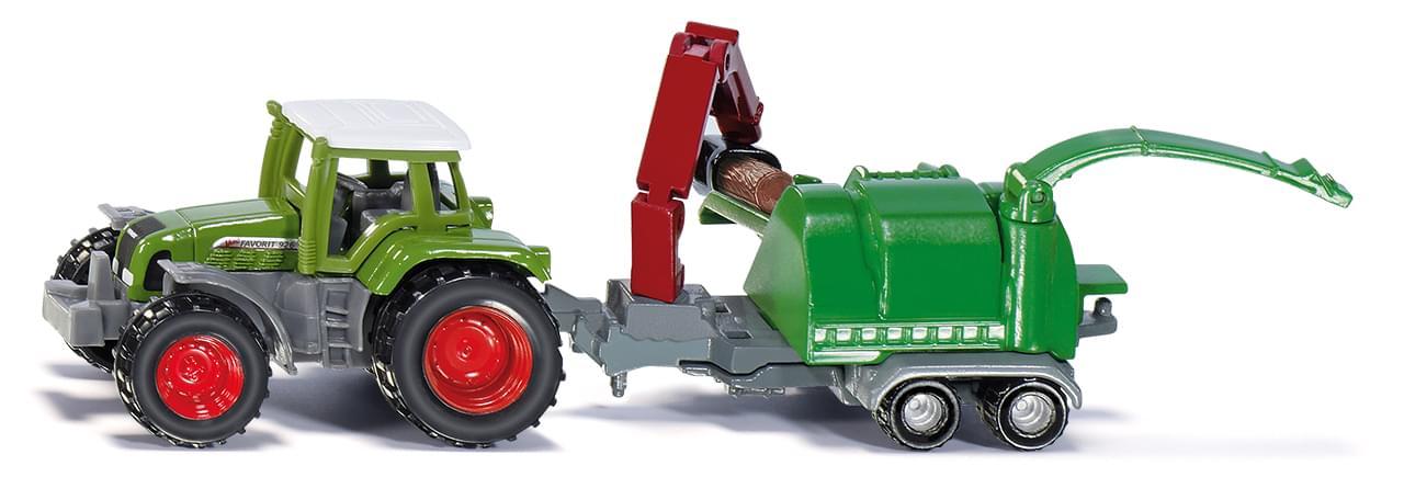 Купить Трактор с щеподробилкой, Siku