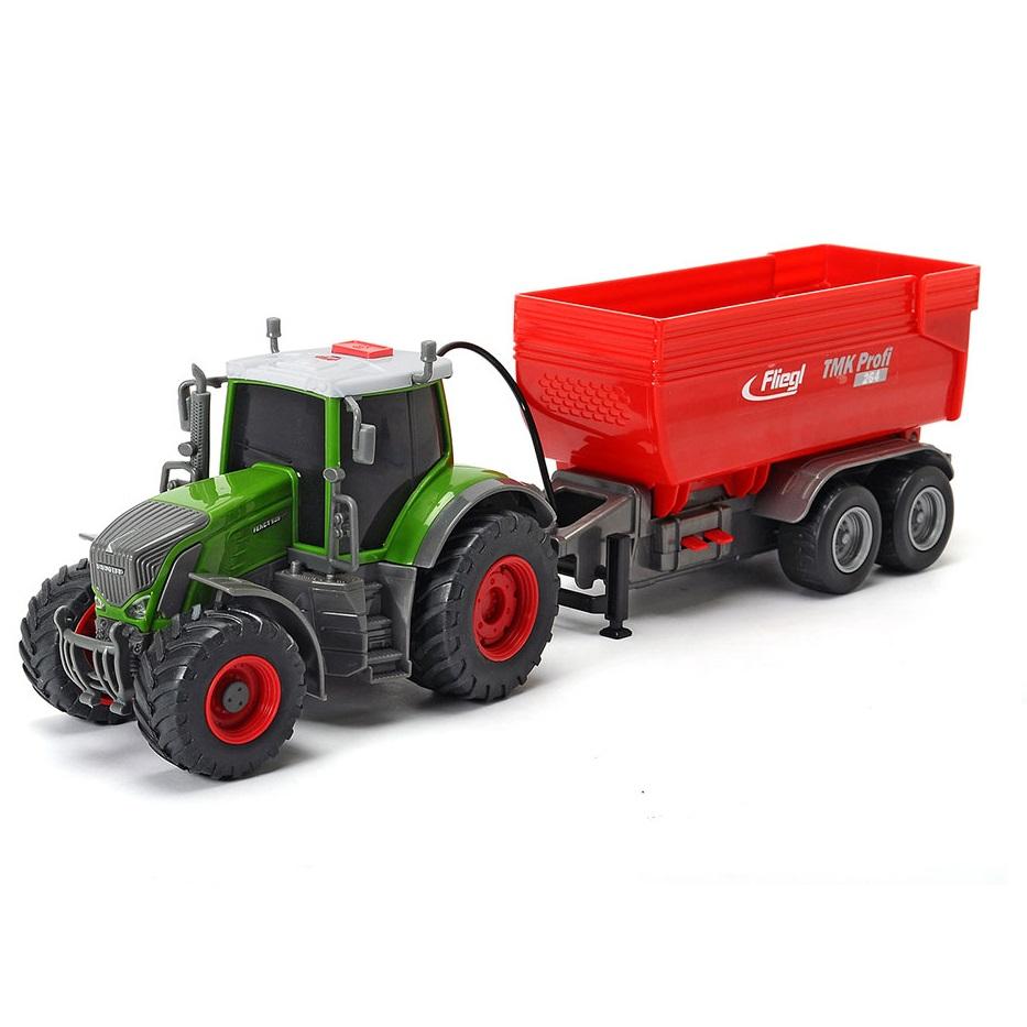 Трактор Fendt с прицепом, 41 см., свет, звук Dickie Toys