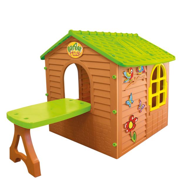 Детский игровой домик со столомПластиковые домики для дачи<br>Детский игровой домик со столом<br>