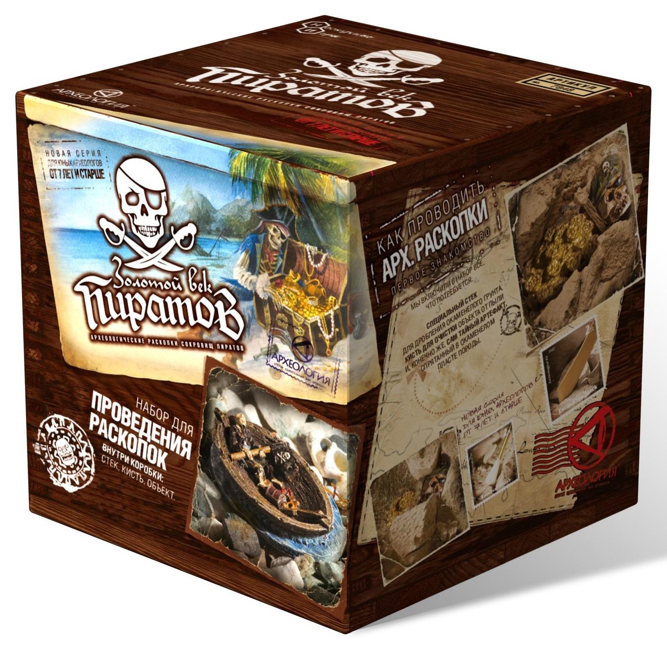 Настольная игра – Раскопка. Сокровища пиратовАрхеолог<br>Настольная игра – Раскопка. Сокровища пиратов<br>