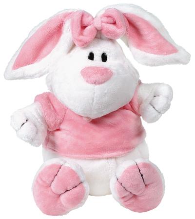 Кролик БЕЛЫЙ сидячий, 23см - Животные, артикул: 19426