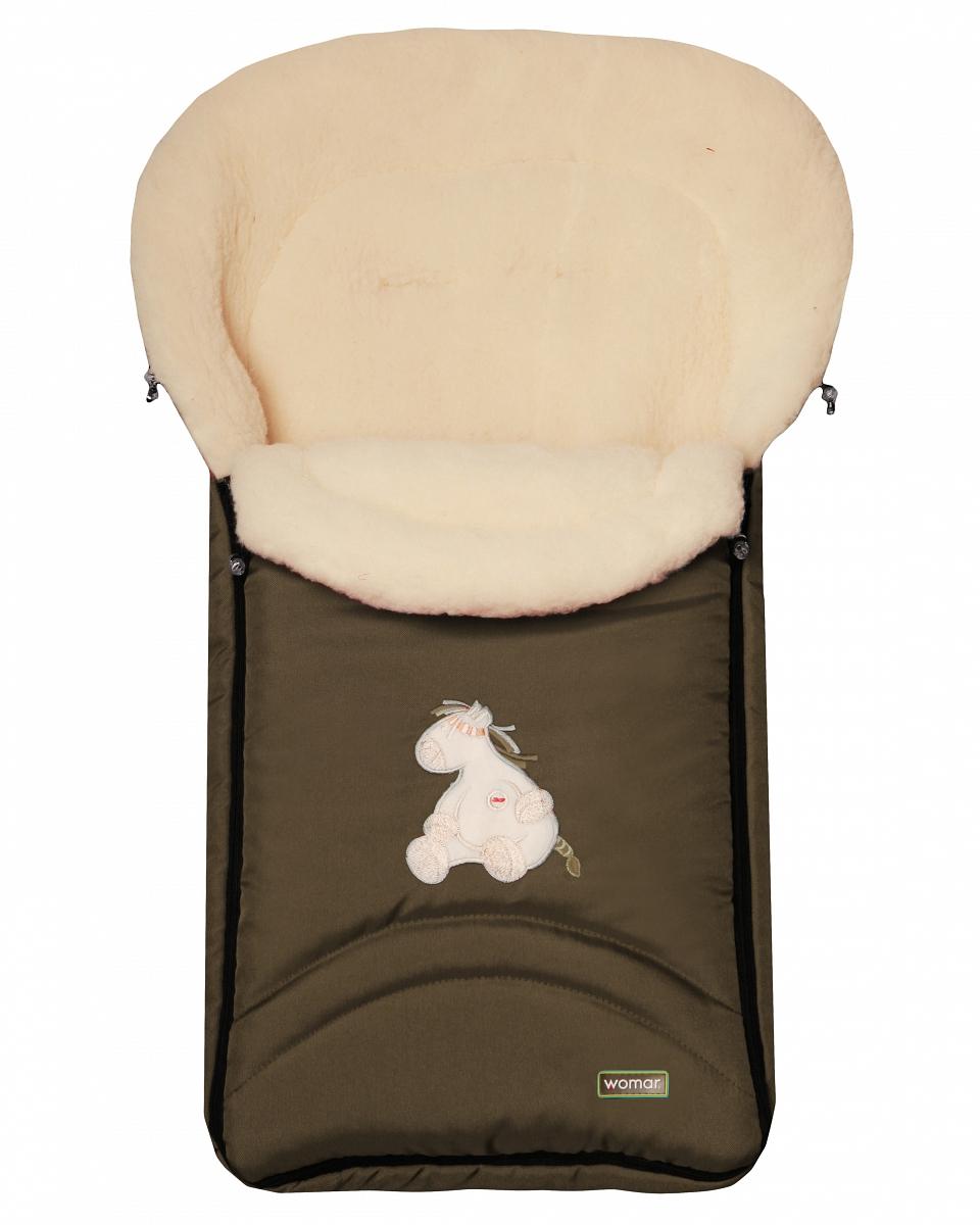 Спальный мешок в коляску №07  North pole, хаки - Прогулки и путешествия, артикул: 171056