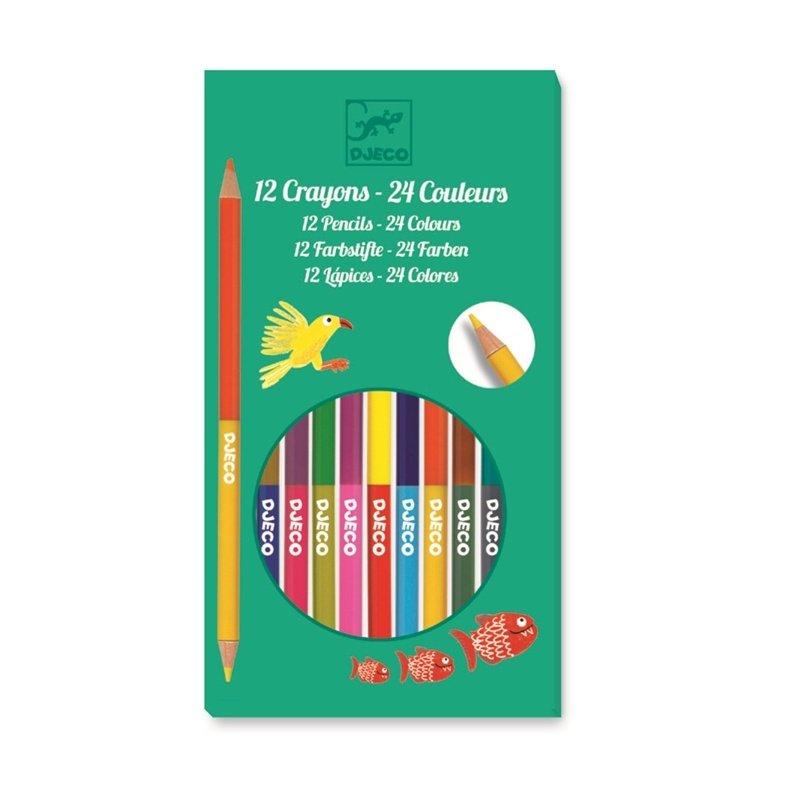 Набор для рисования - 12 двухсторонних карандашей