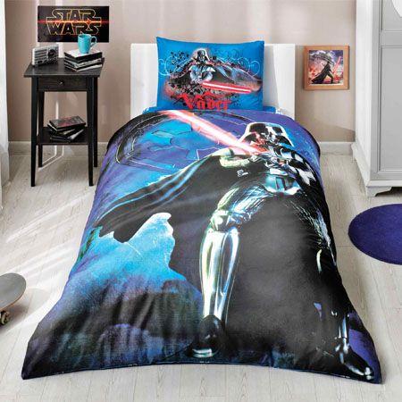 Комплект постельного белья Ranforce - Star Wars Light Saber, 1,5 спальныйДетское постельное белье<br>Комплект постельного белья Ranforce - Star Wars Light Saber, 1,5 спальный<br>