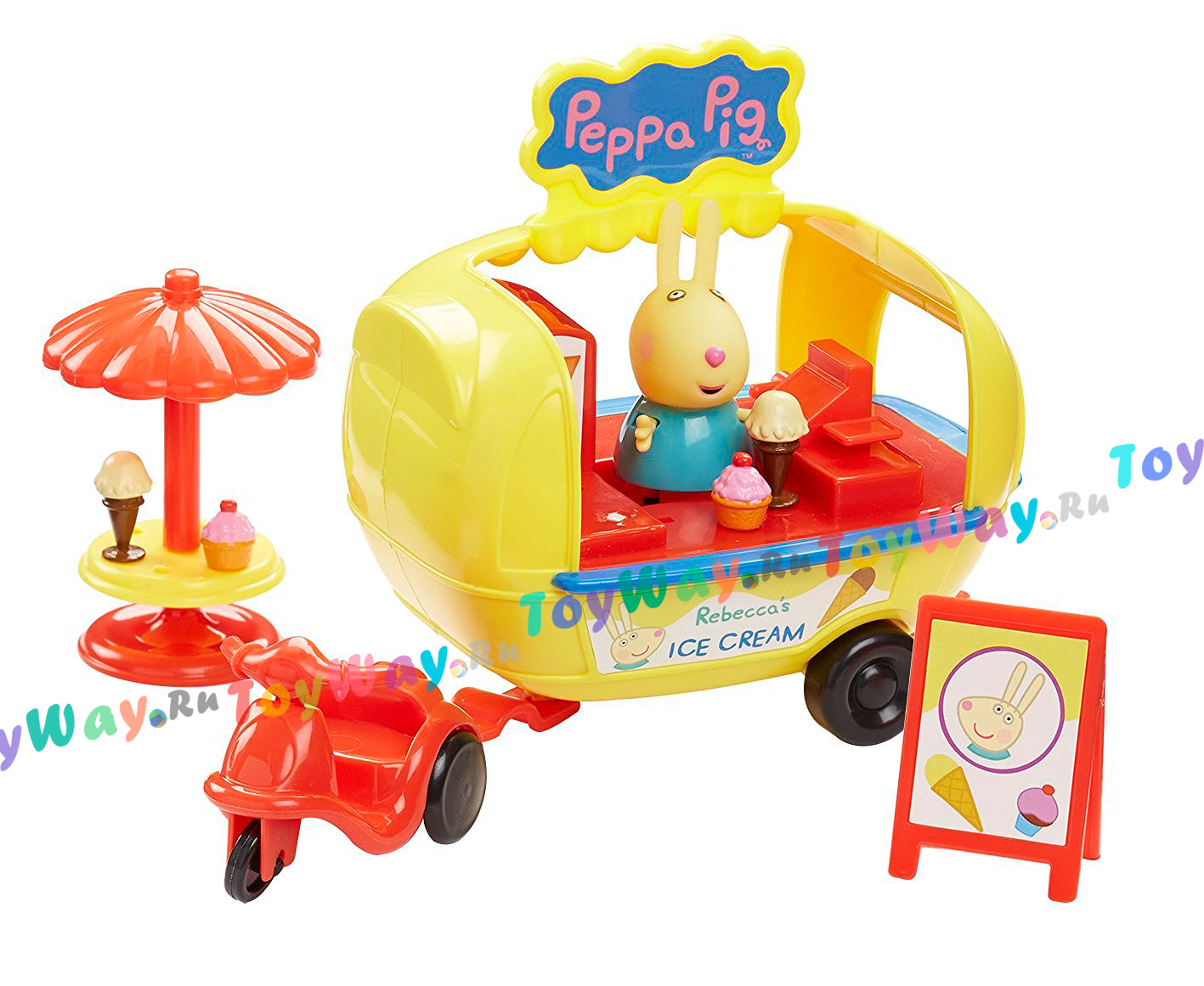 Игровой набор – Кафе-мороженое Ребекки с фигуркой из серии Свинка ПеппаСвинка Пеппа Peppa Pig<br>Игровой набор – Кафе-мороженое Ребекки с фигуркой из серии Свинка Пеппа<br>