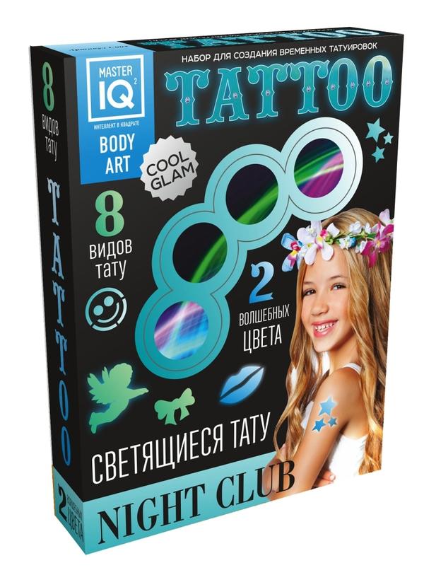 Набор для создания временных татуировок Night Сlub, светящиесяГрим для лица и тату<br>Набор для создания временных татуировок Night Сlub, светящиеся<br>