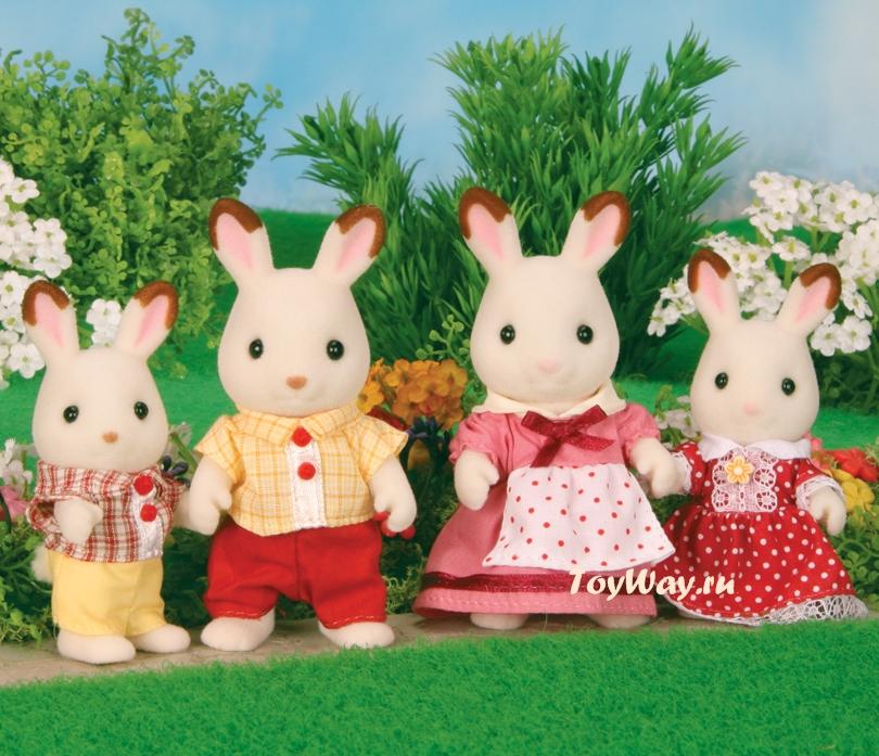 Купить Sylvanian Families - Семья Шоколадных Кроликов, Epoch