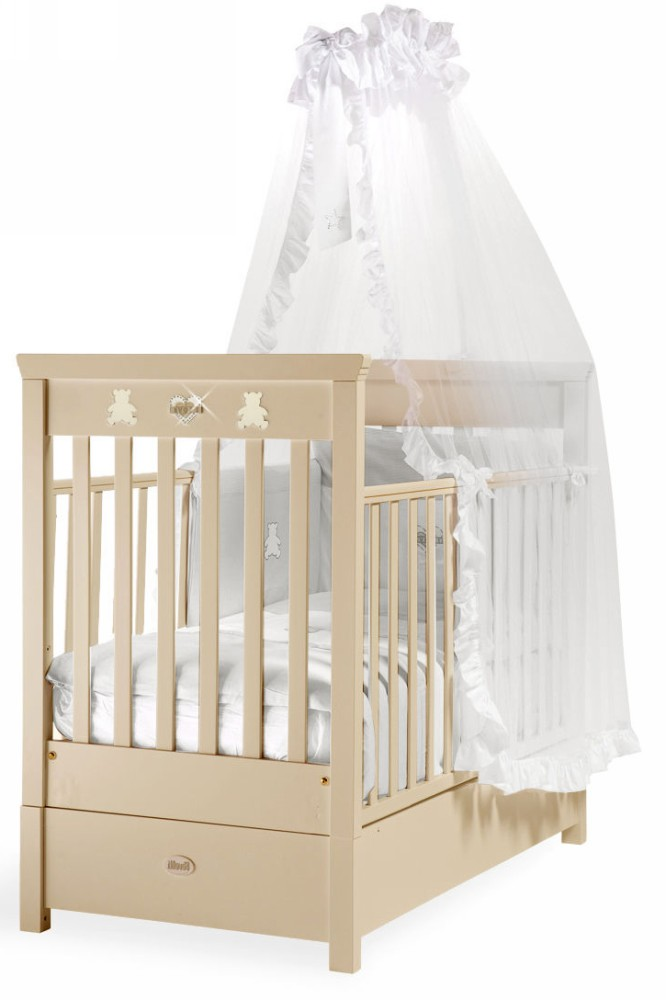 Кровать детская Fms Elite AvorioДетские кровати и мягкая мебель<br>Кровать детская Fms Elite Avorio<br>
