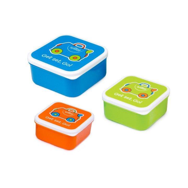 Купить Контейнеры для еды 3 шт – голубой, оранжевый, зеленый., Trunki