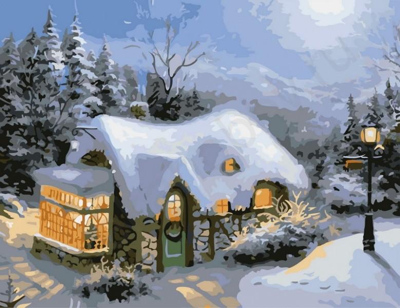 Раскраска по номерам - Зимний вечер, 40 х 50 см.Раскраски по номерам Schipper<br>Раскраска по номерам - Зимний вечер, 40 х 50 см.<br>