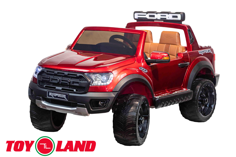 Электромобиль джип Raptor Ranger, красный