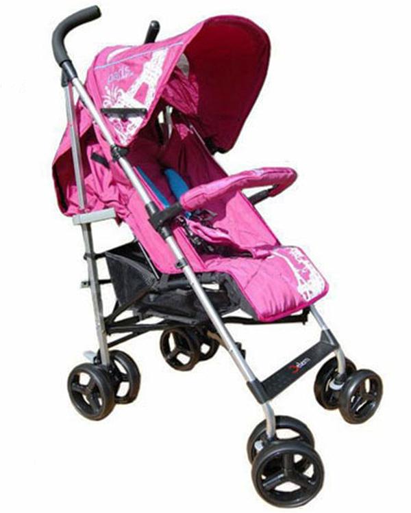 Коляска трость Paris, PinkДетские коляски Capella Jetem, Baby Care<br>Коляска трость Paris, Pink<br>