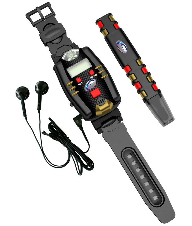 Набор шпиона: часы с ручкой + подслушивающее устройствоШпионские игрушки. Наборы секретного агента<br>Игровой набор для выполнения шпионских миссий – часы и ручка супер-агента. Также в комплект входят наушники. На часах встроенный микрофон и ультрафиолетовая подсветка для прочтения секретных сообщений, написанных ручкой суперагента...<br>