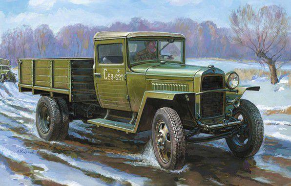 Модель для склеивания - Советский армейский грузовик образца Звезда, 1943 года ГАЗ-МММодели автомобилей для склеивания<br>Модель для склеивания - Советский армейский грузовик образца Звезда, 1943 года ГАЗ-ММ<br>