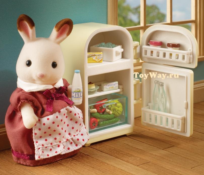 Купить Sylvanian Families - Мама кролик и холодильник, Epoch