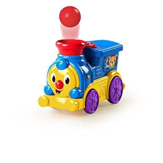 Интерактивная игрушка - Веселый паровозик с мячиками, звукЖелезная дорога для малышей<br>Интерактивная игрушка - Веселый паровозик с мячиками, звук<br>